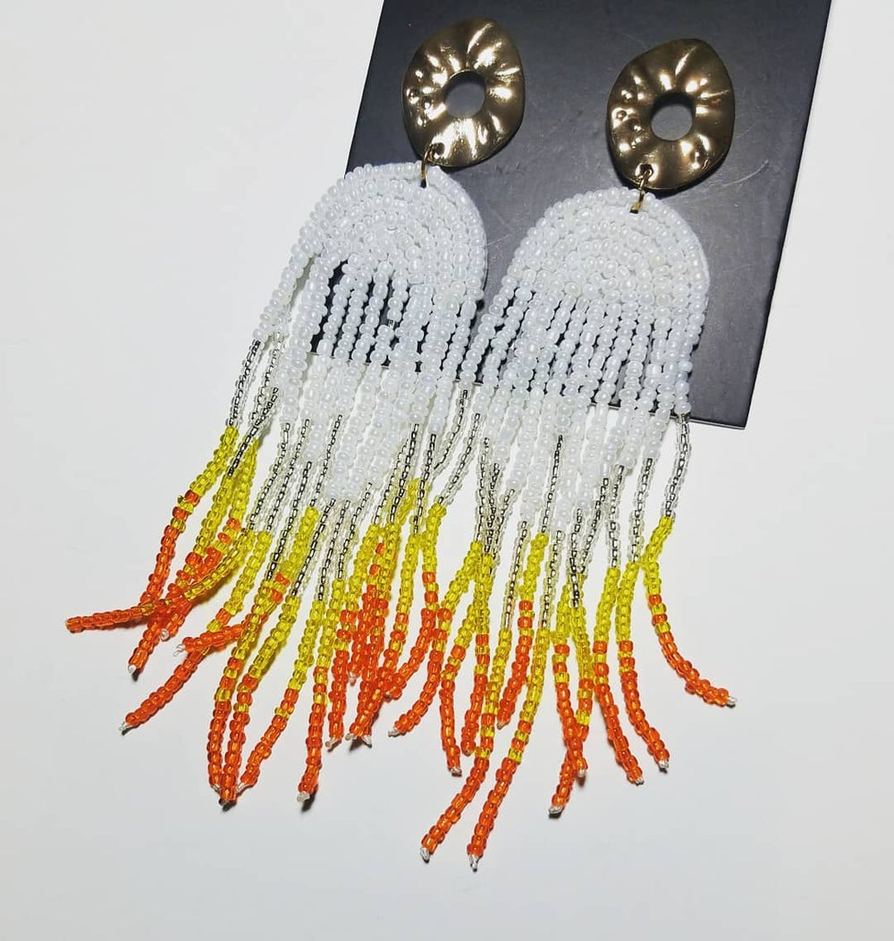 Creamsicle Drip Earrings