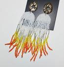 Image 4 of   Creamsicle Drip Earrings