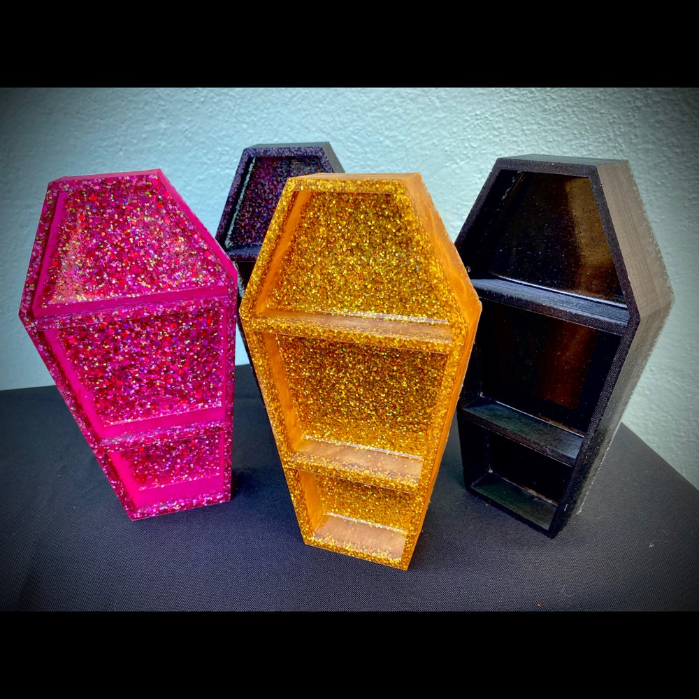 Image of GLITTER COFFIN SHELF