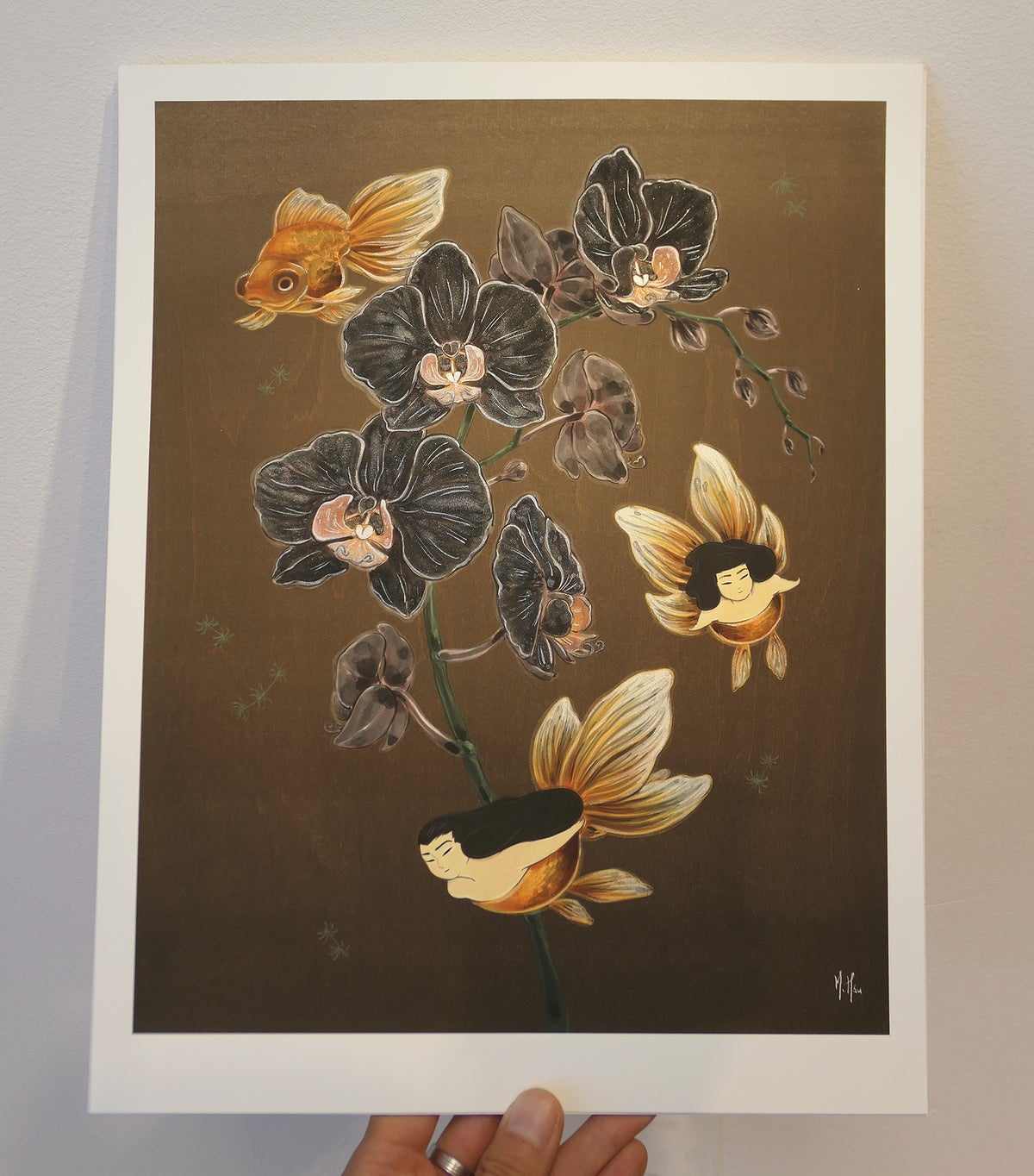 The Black Orchids Original Giclee 1/1