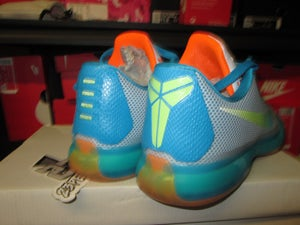 "Image of Kobe X (10) ""Key Lime/Blue/Total Orange"" PE"