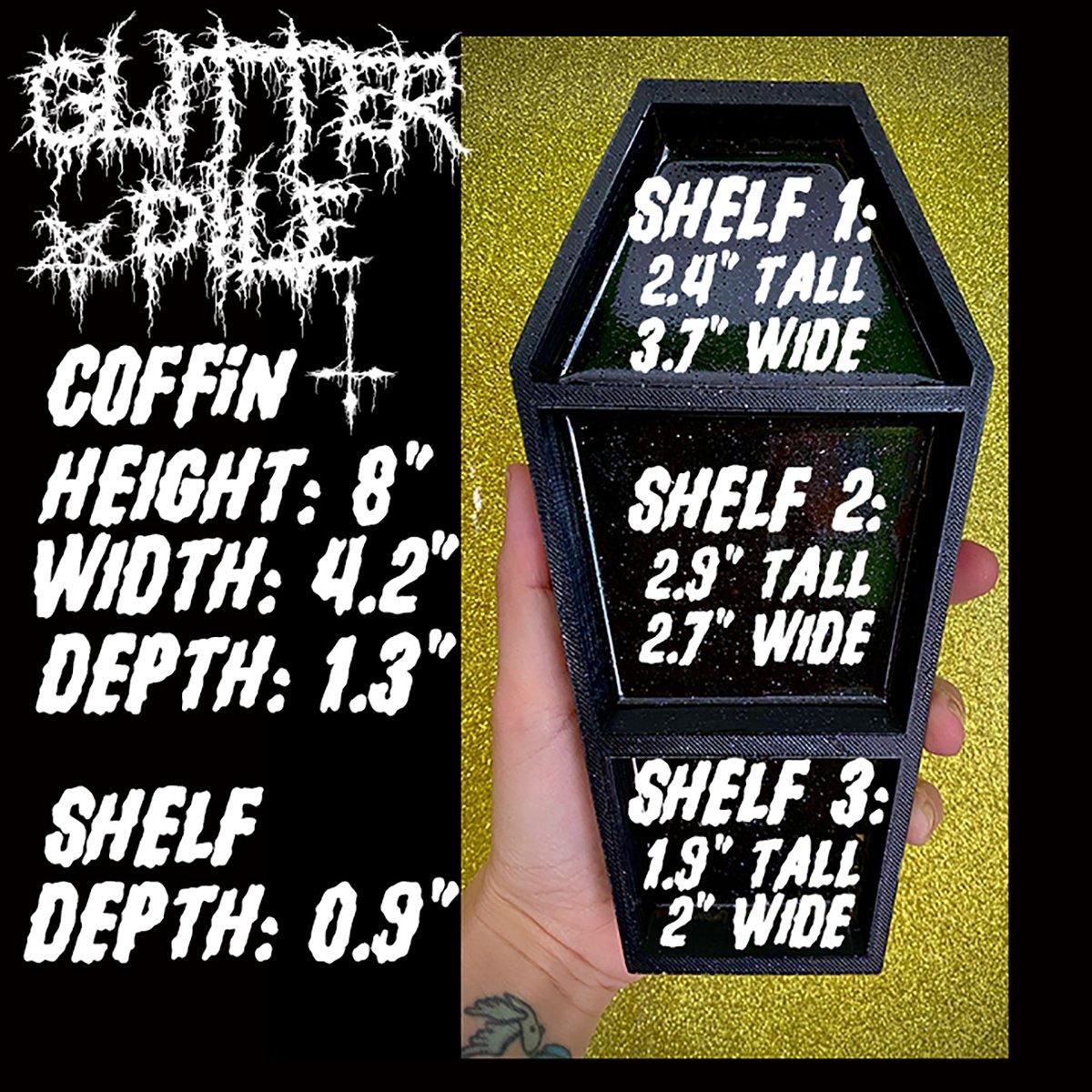 Image of GLITTER COFFIN SHELF