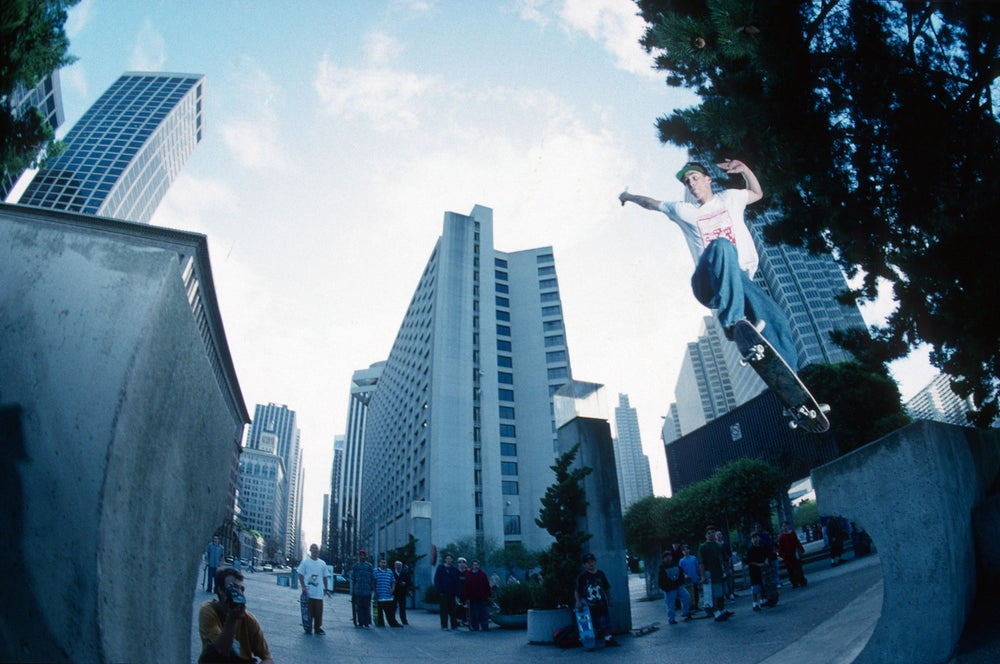 John Cardiel. Embarcadero - Cardiel gap 1994 by Tobin Yelland