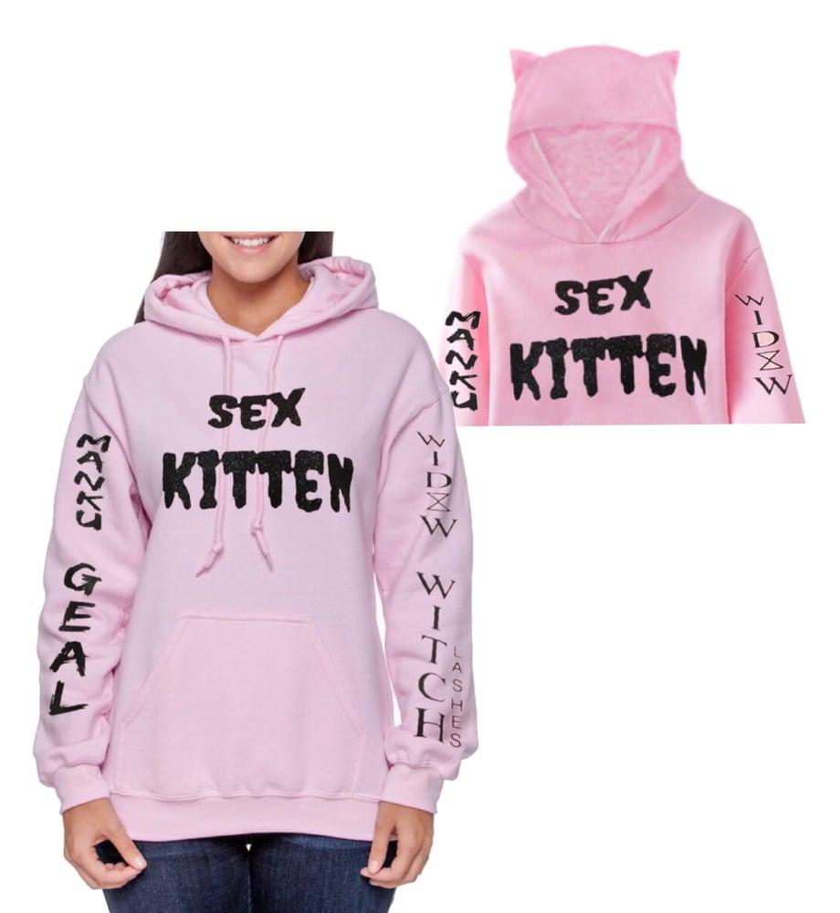 Image of Sex Kitten Pink Unisex Pullover Hoodie