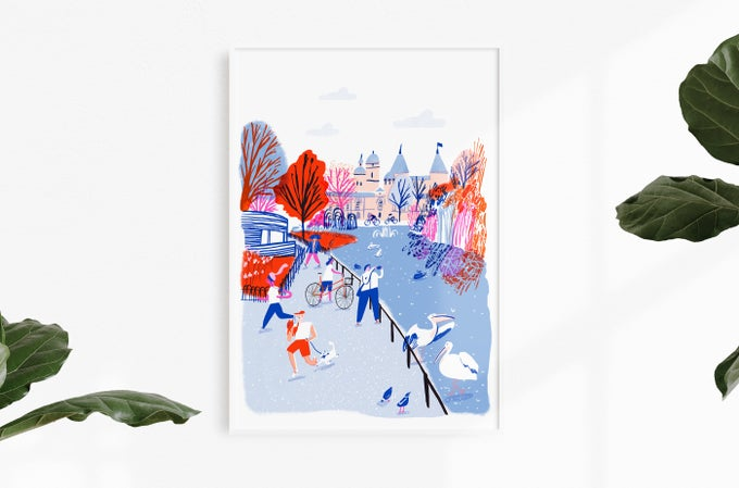 Image of St. James's Park, A2 Archive Print
