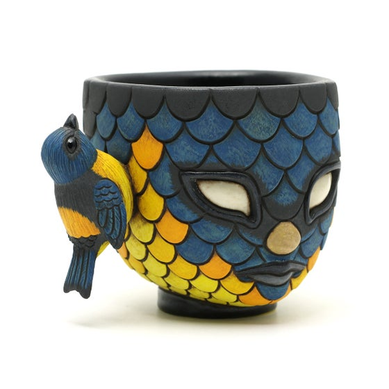 Image of Blend In Blue and Yellow Tanager cup