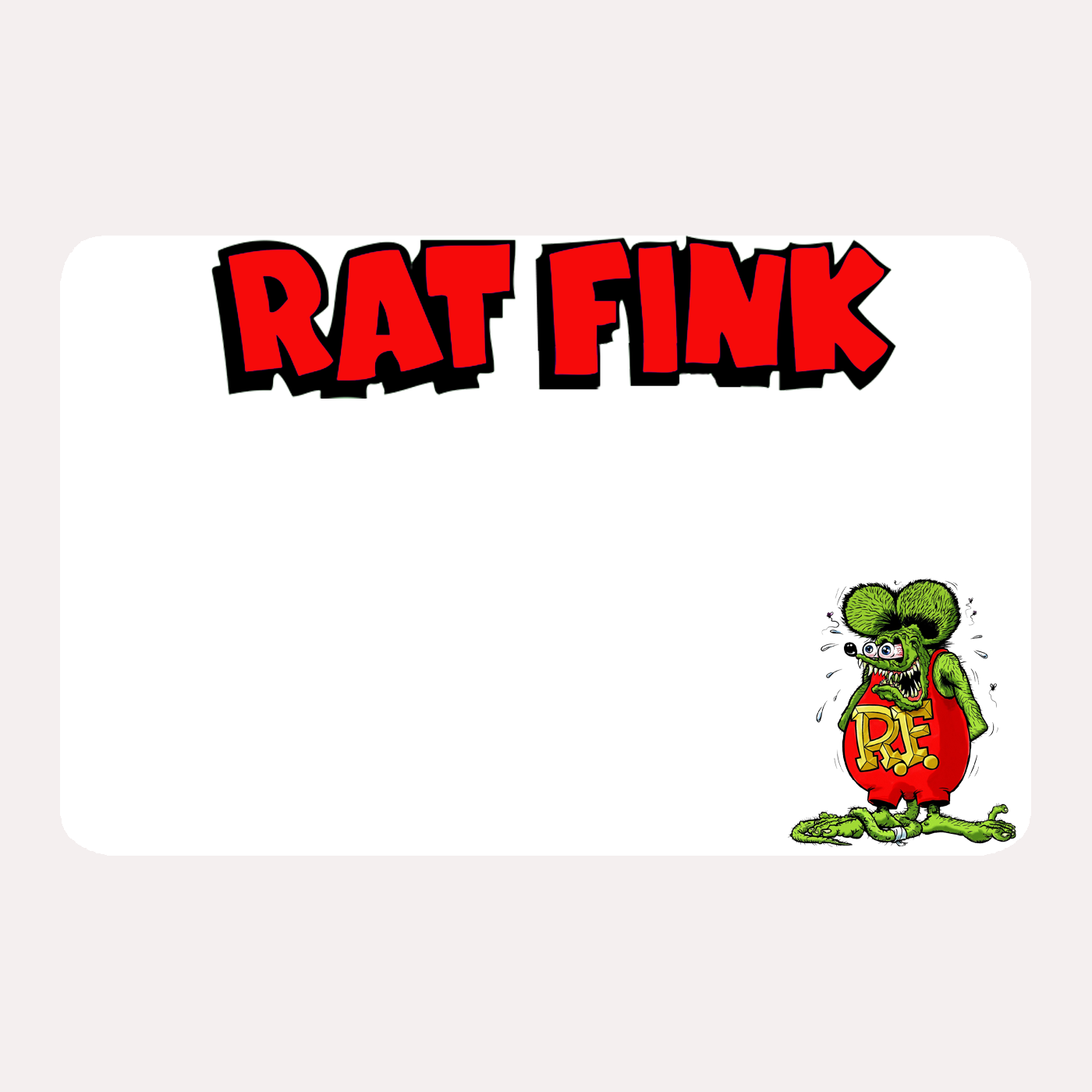 Image of Rat Fink Blanks