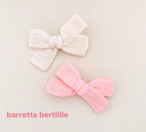 Image of Barrette double gaze rose