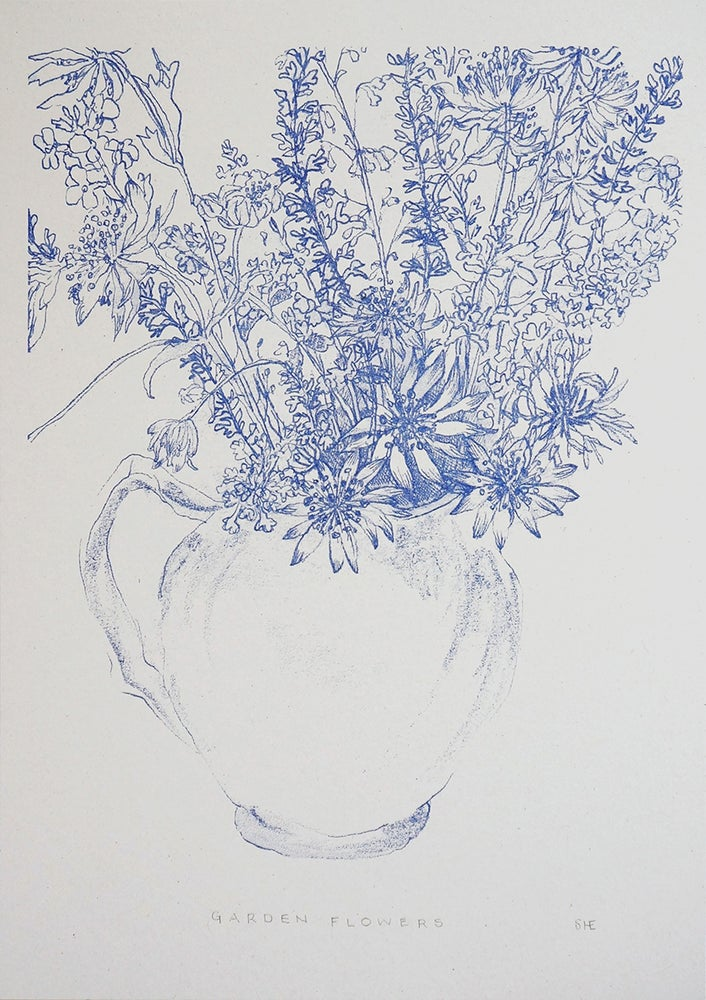 Image of Garden Flowers - Risograph Print