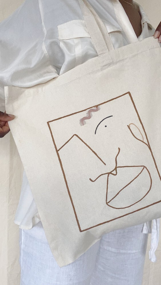 Image of hey you tote