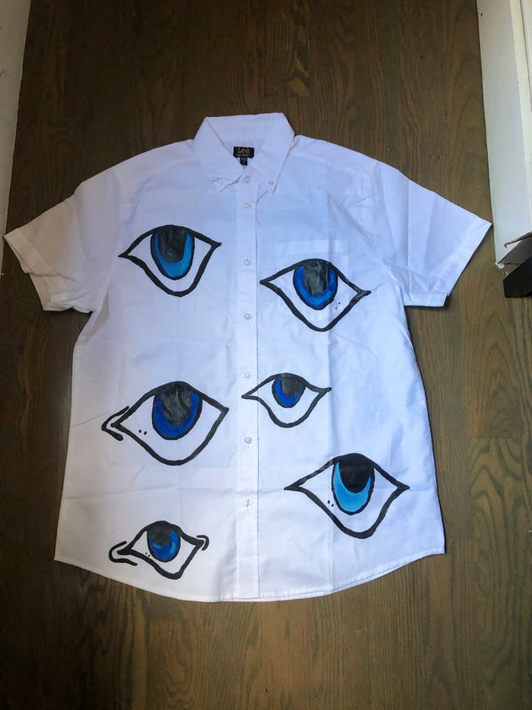 Image of SAIbysai Eye Button Up