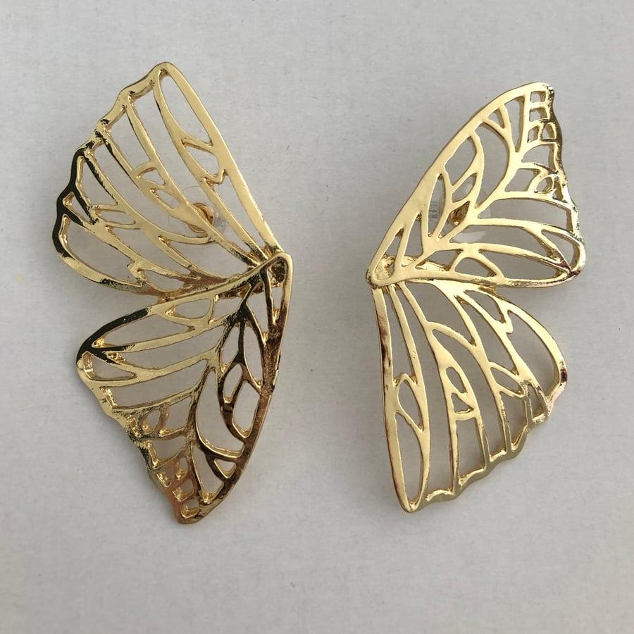 Image of Butterfly Wing Earrings