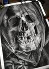 Graphite Skull Series #5