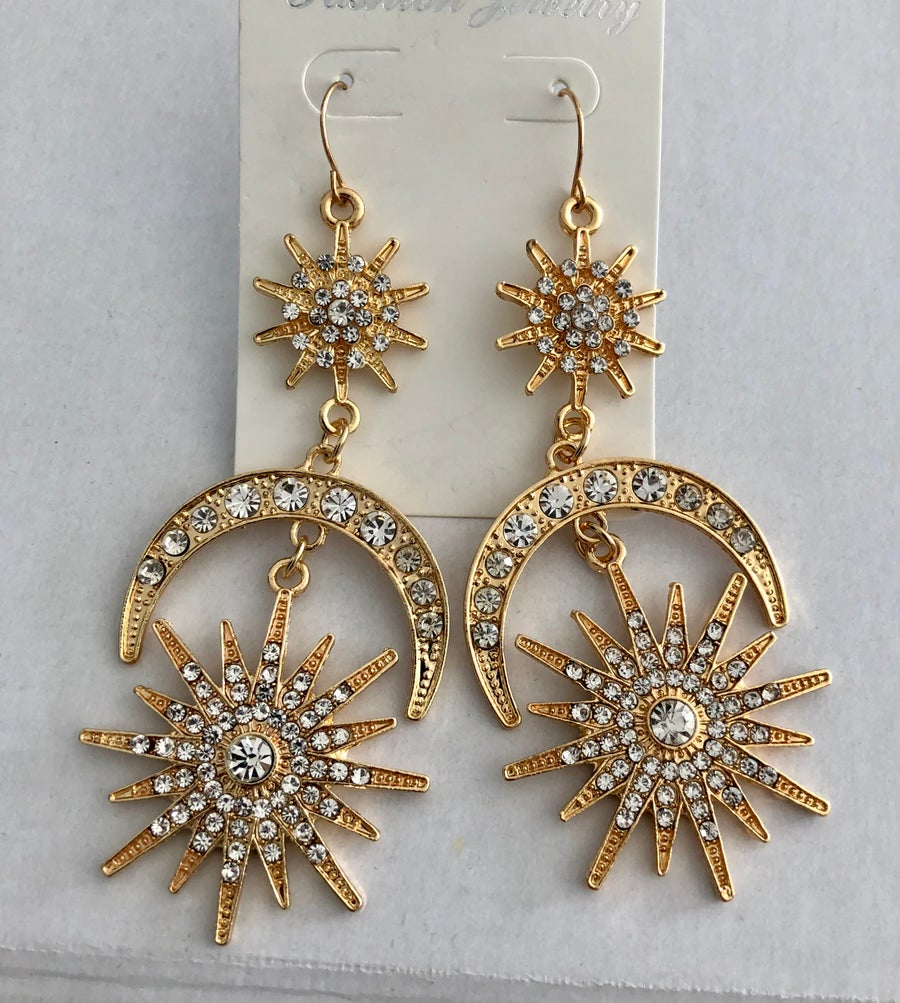 Image of Sun and Moon Earrings