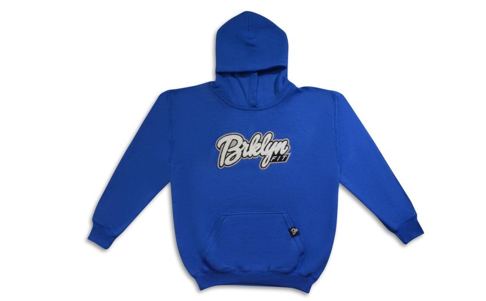 Image of Brklyn Fit®️ Kids Patch Hoodie (Royal Blue)