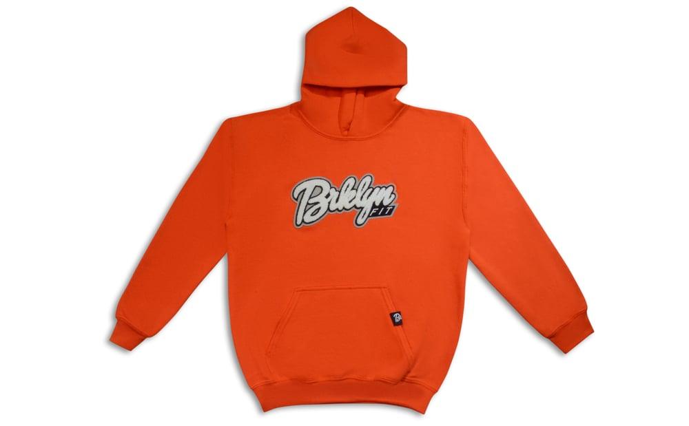 Image of Brklyn Fit®️ Kids Patch Hoodie (Orange)