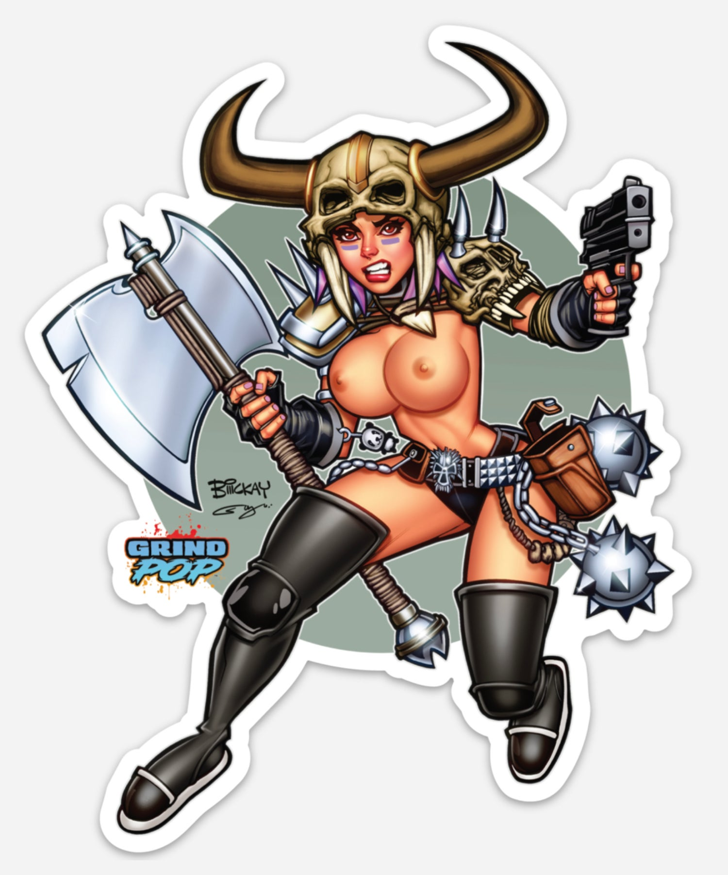 Image of Kim the Delusional Racy Die Cut Sticker