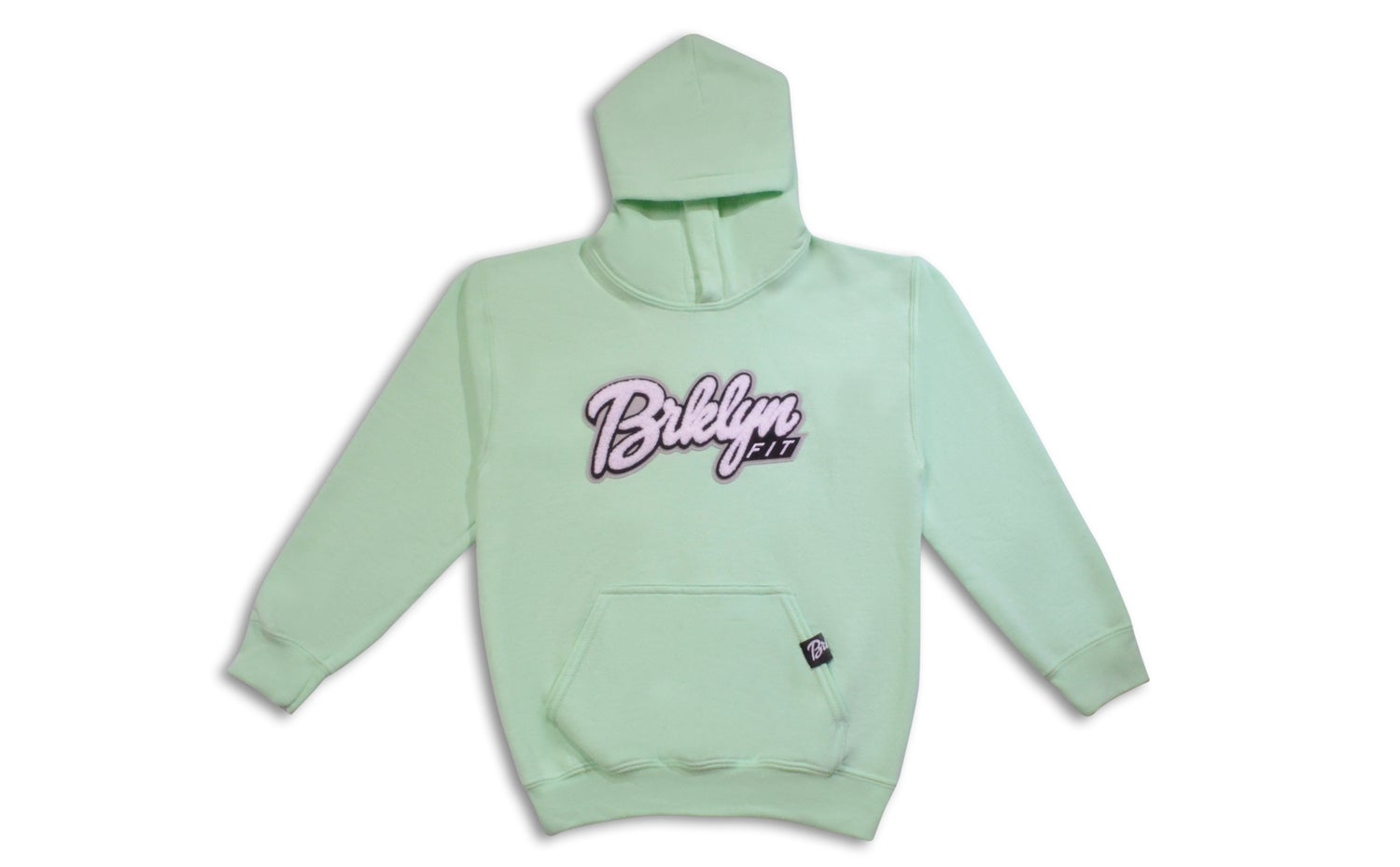 Image of Brklyn Fit®️ Kids Patch Hoodie (Mint)