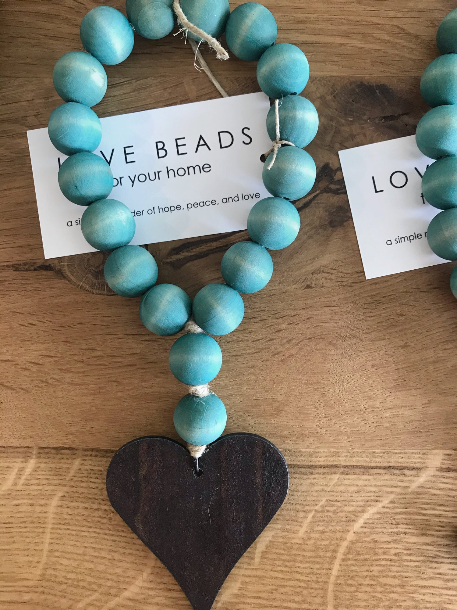 Image of MINI LOVE BEADS - AQUA HEART