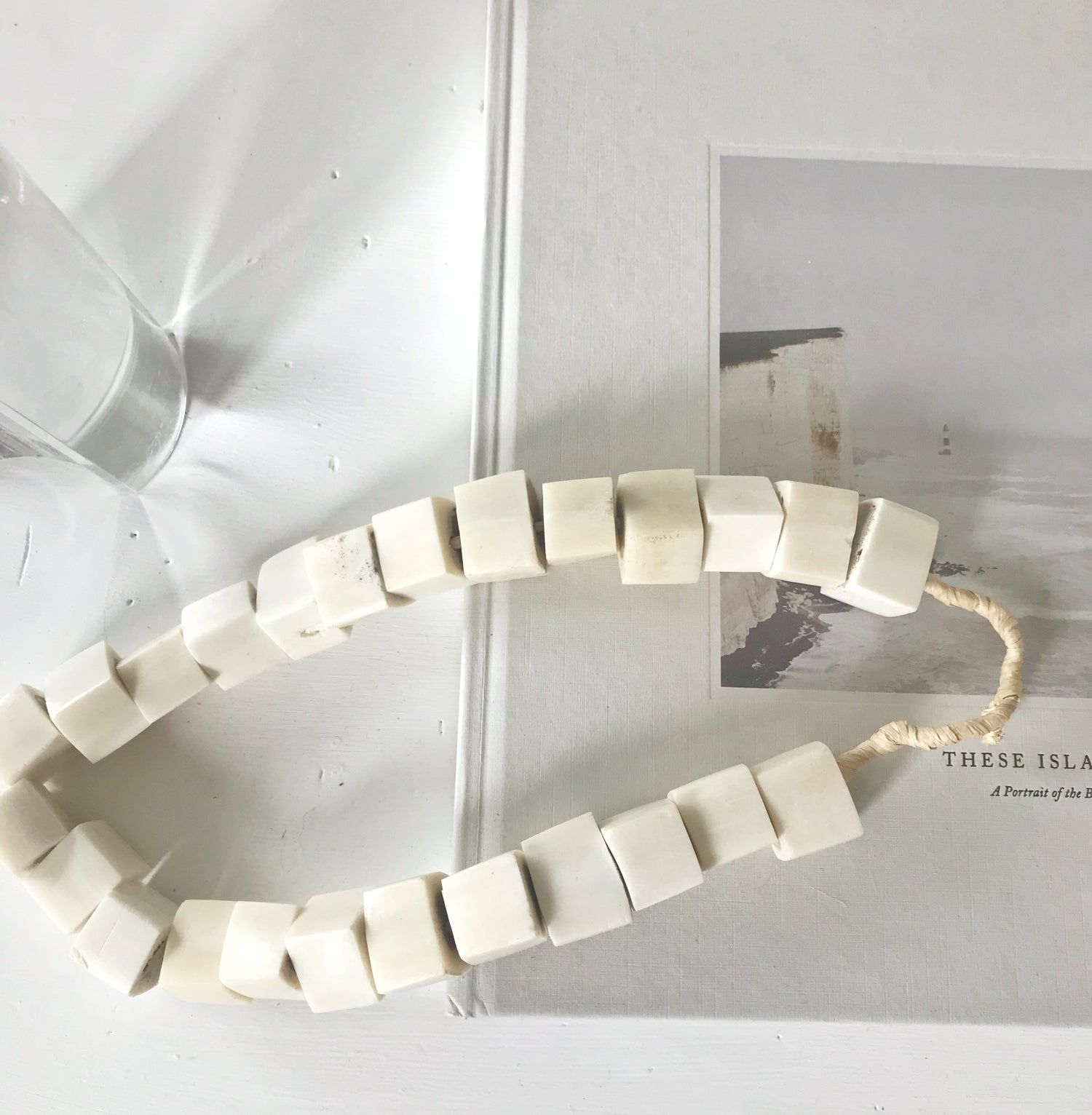 Image of Beads for your home - Square Soft White