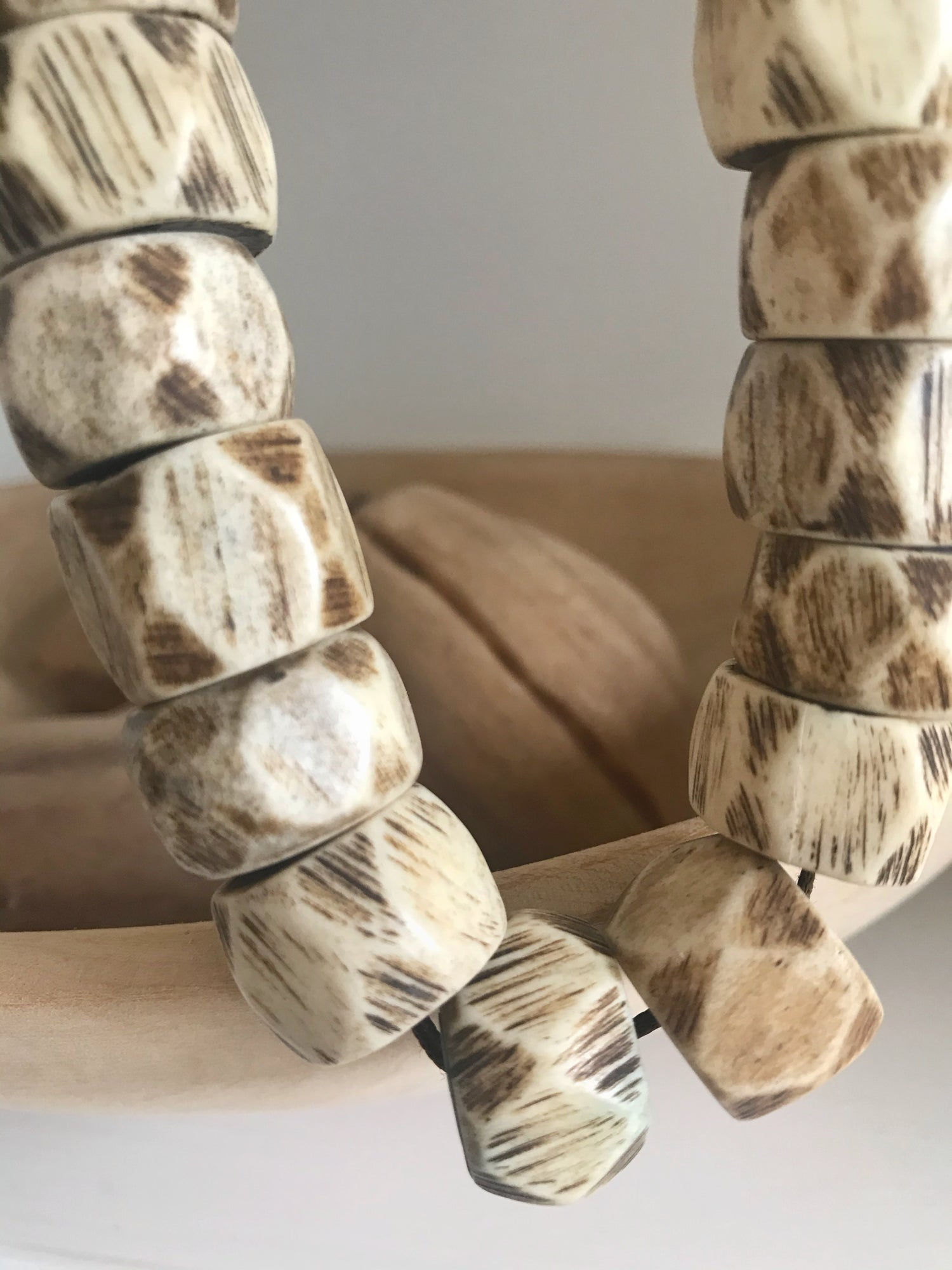 Image of Beads for your home - Tan with Brown