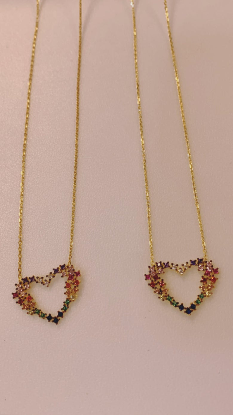 Image of Colormine Hearts necklace