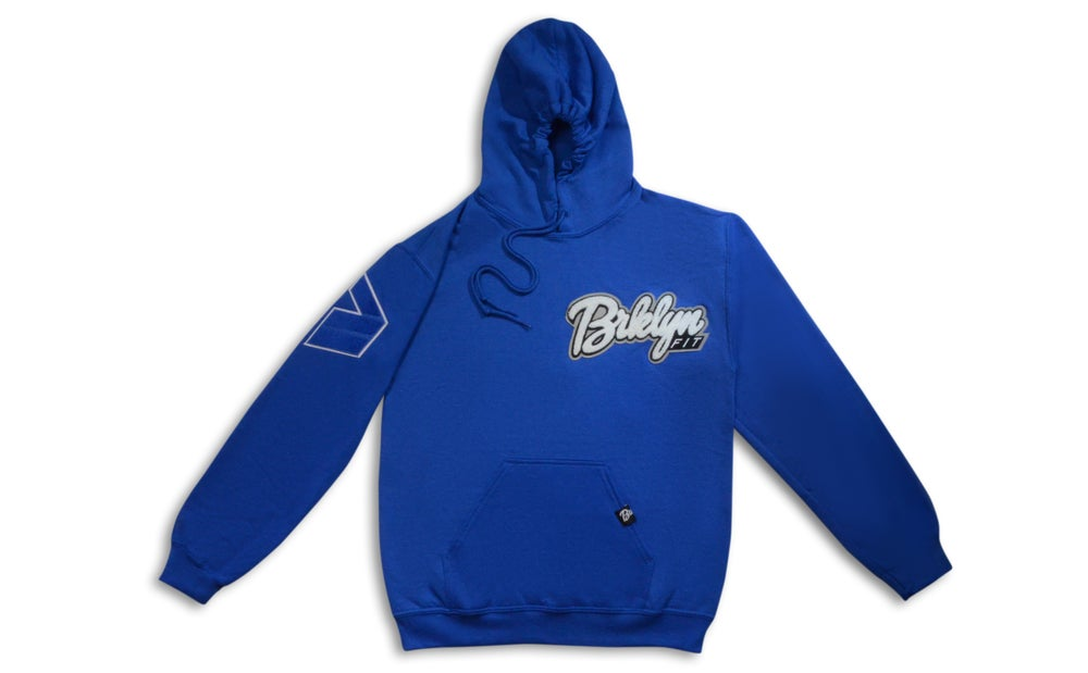 Image of Brklyn Fit® Patch Hoodie (Blue)