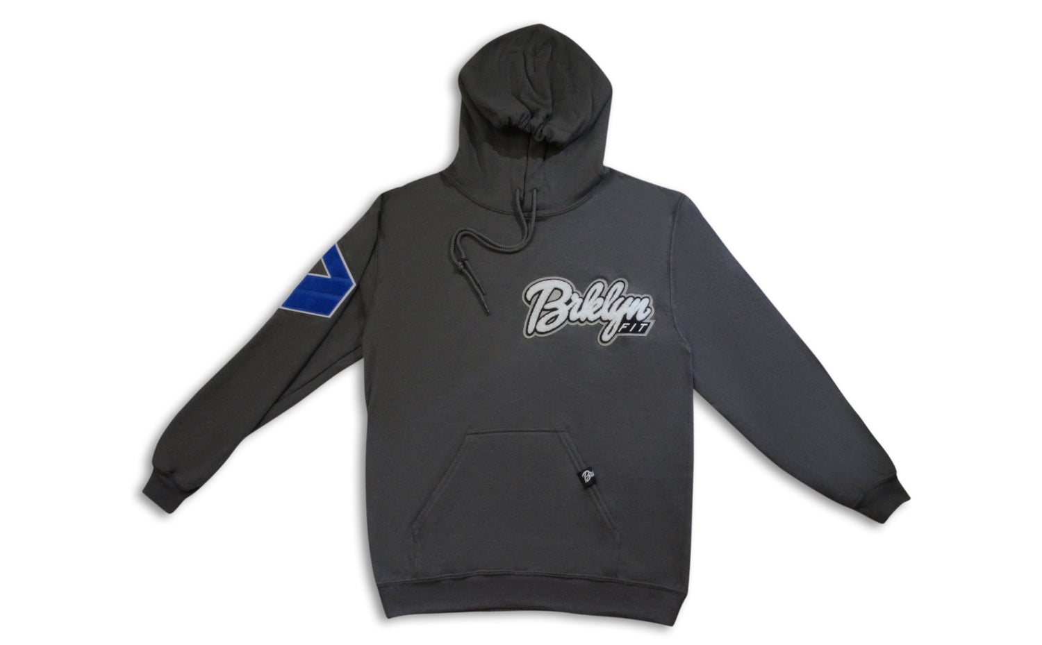Image of Brklyn Fit® Patch Hoodie (Charcoal Grey)