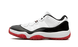 "Image of Air Jordan XI (11) Retro Low ""Blk/White/University Red"""