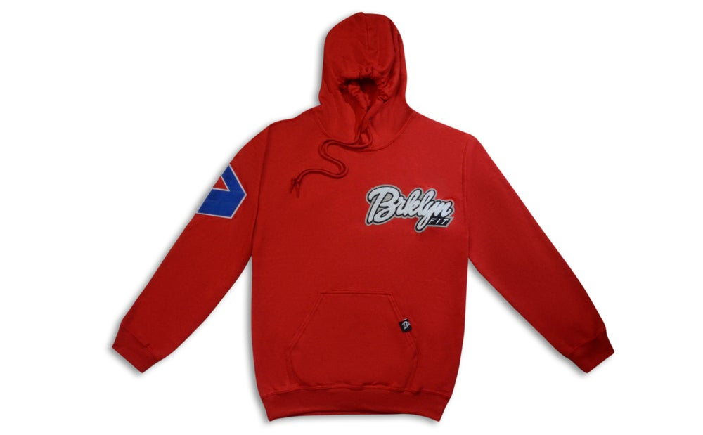 Image of Brklyn Fit® Patch Hoodie (Red)