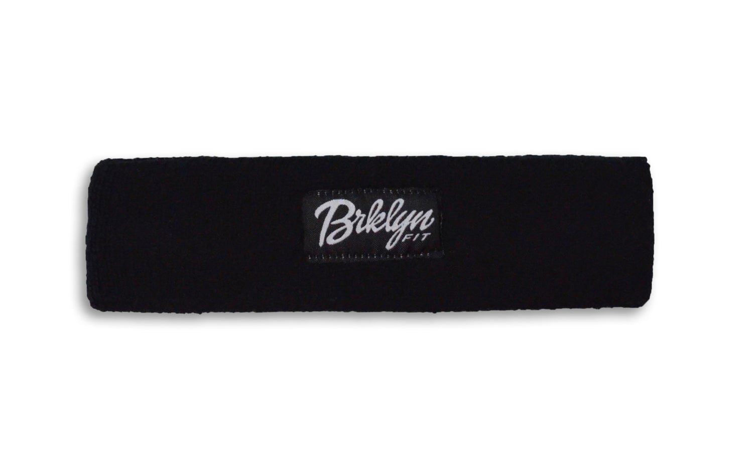 Image of Brklyn Fit® Woven Label Headband (Black)