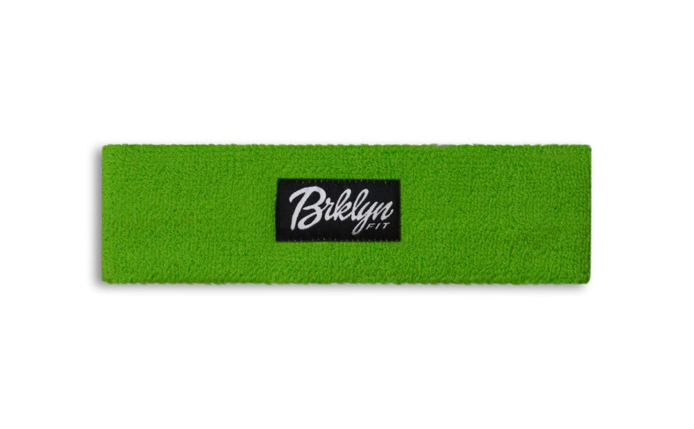 Image of Brklyn Fit® Woven Label Headband (Green)