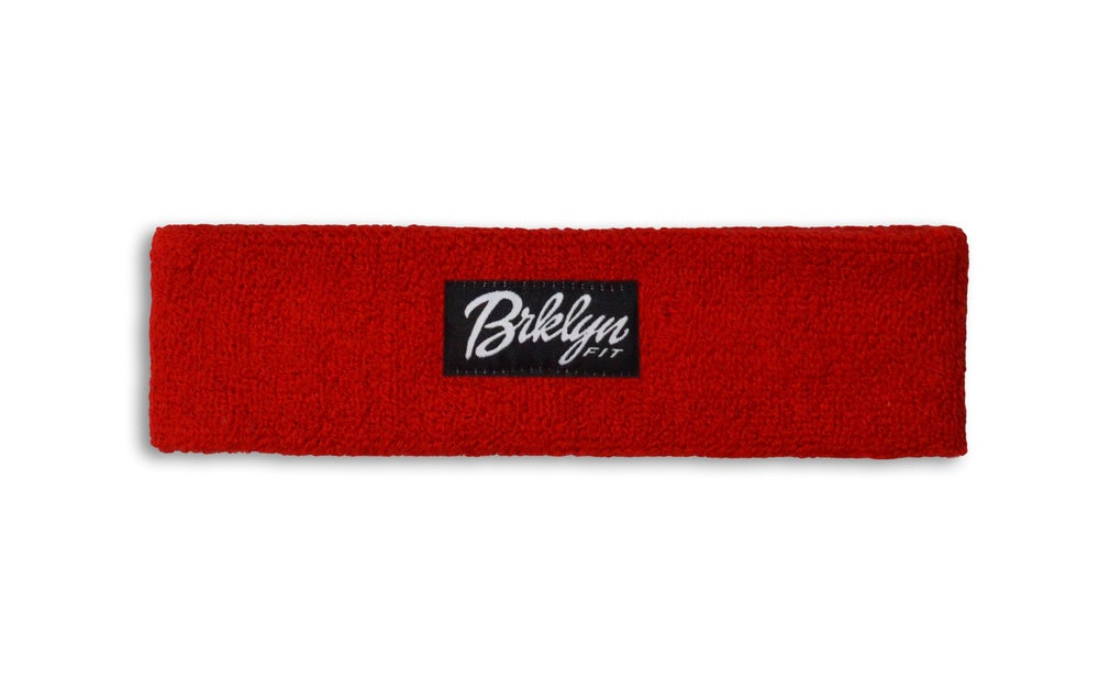 Image of Brklyn Fit® Woven Label Headband (Red)