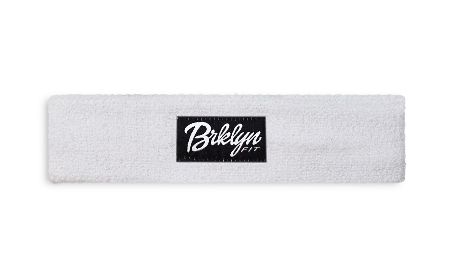 Image of Brklyn Fit® Woven Label Headband (White)