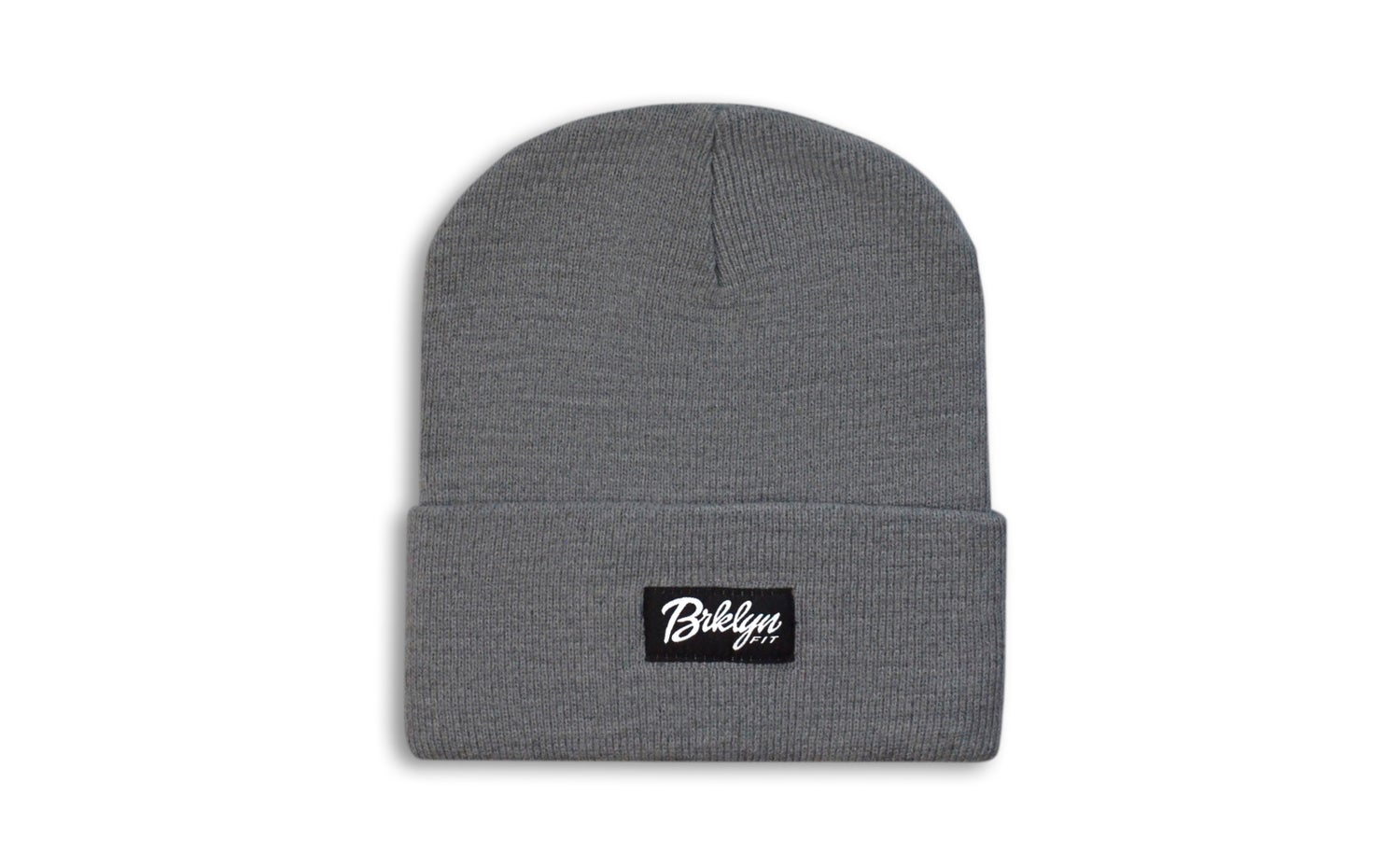 Image of Brklyn Fit® Woven Label Beanie (Grey)