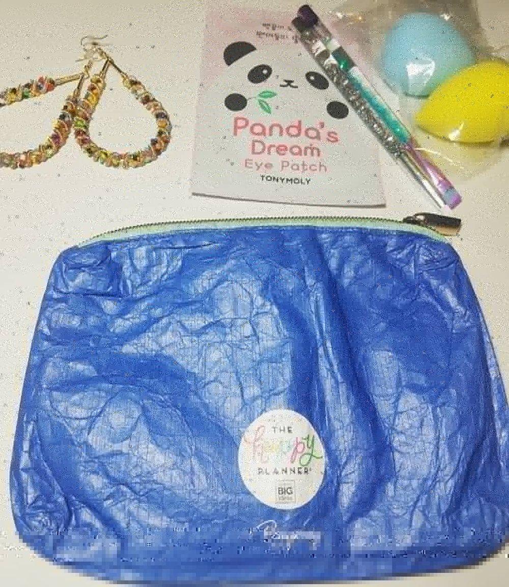Classy & Fabulous Pouch And Denim Face Mask Bundle