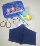 Image 1 of Classy & Fabulous Pouch And Denim Face Mask Bundle