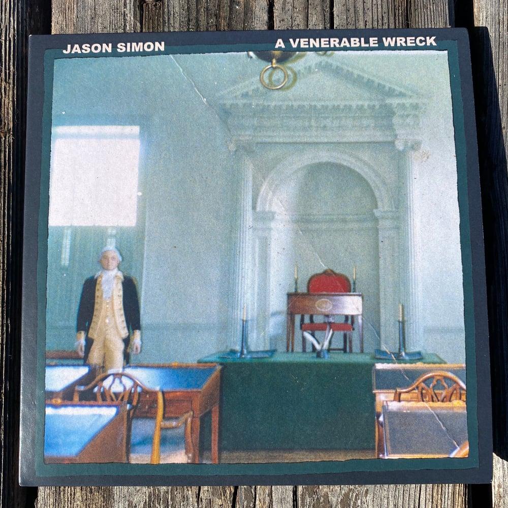 "Image of  Jason Simon "" A Venerable Wreck"" Handmade Vinyl Replica CD"