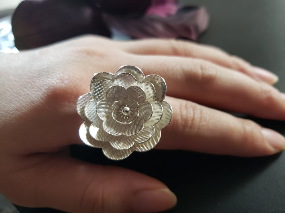 Lotus Cocktail Ring