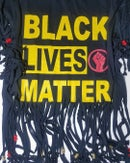 Image 1 of Shredded Beady Mash-Up Black Lives Matter Custom T-Shirt