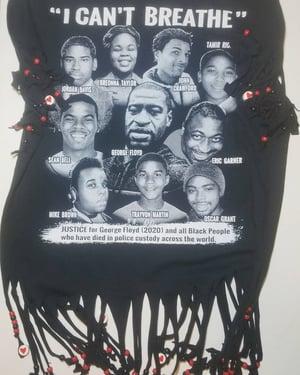 Image of Shredded Beady Mash-Up Black Lives Matter Custom T-Shirt