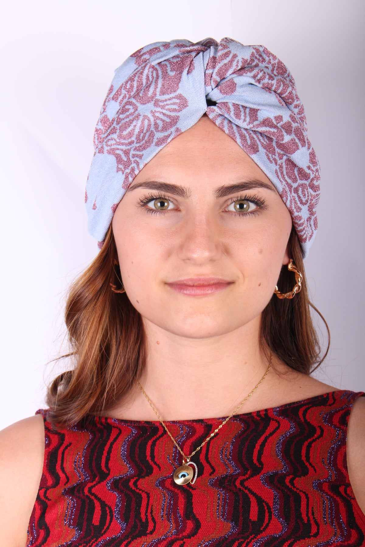 Image of TURBANTE FANTASIA AZZURRO €69 -50%