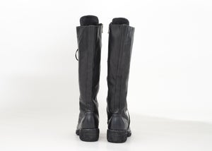 Image of Handcrafted Lace up Leather Knee High Boots