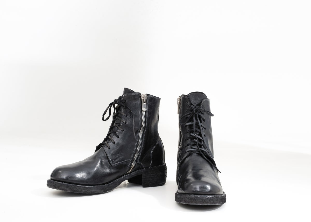 Image of Handcrafted Lace Up Leather Ankle Boots