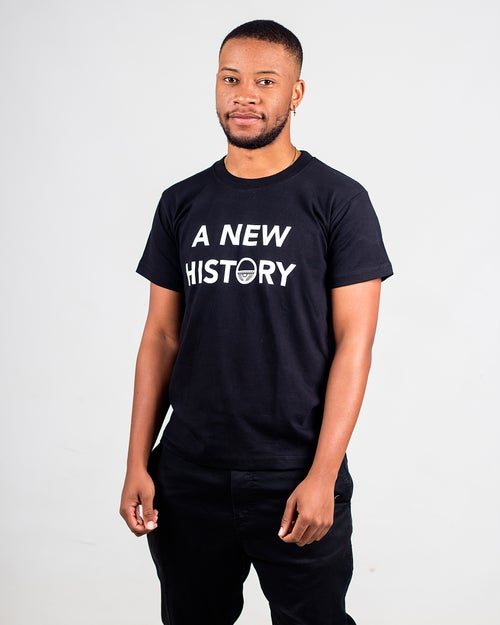 Image of A New History T-shirt (black)