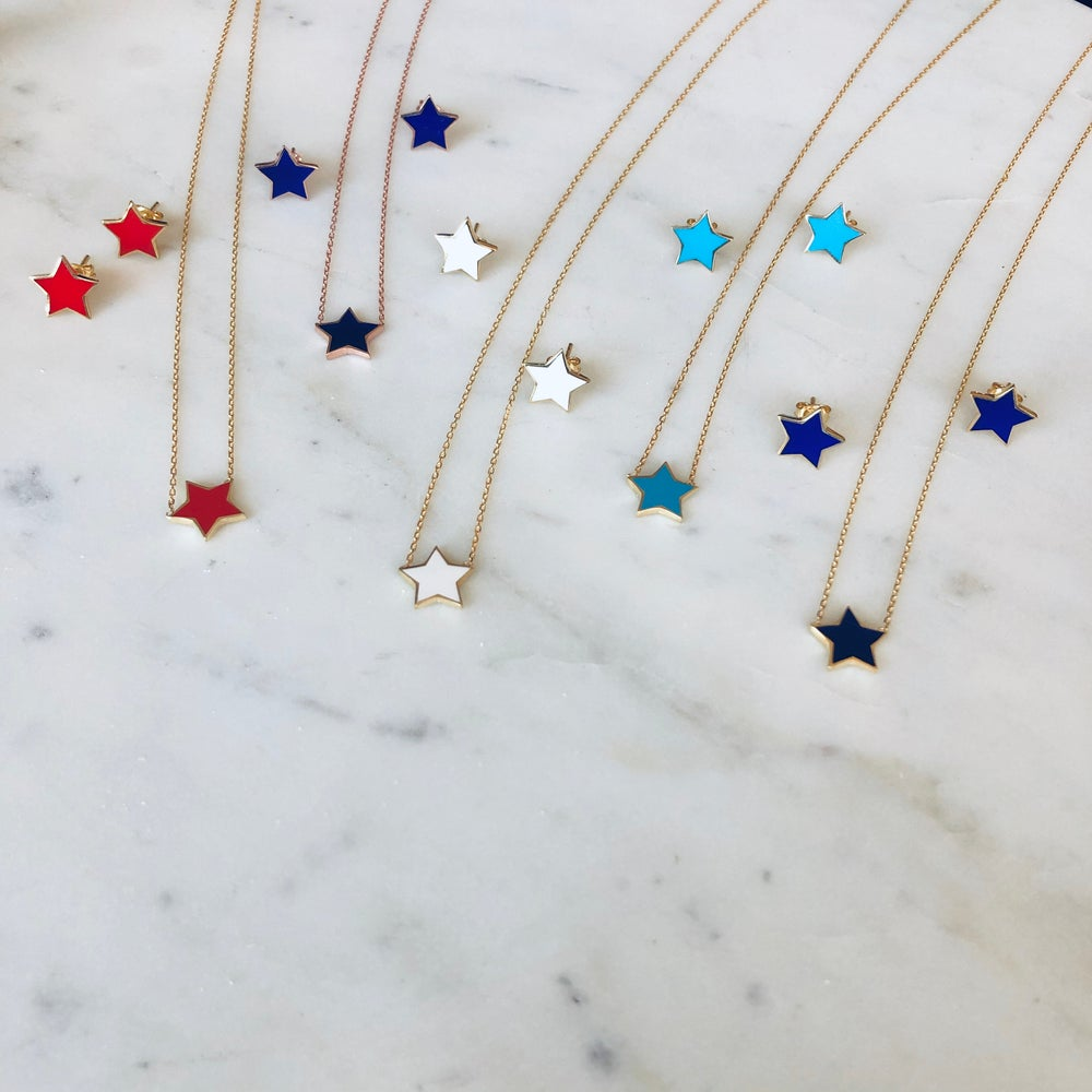 Image of Color Star Earrings