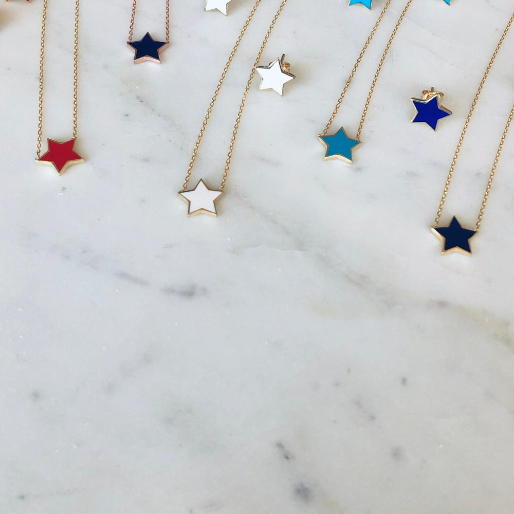 Image of Color Star Necklace