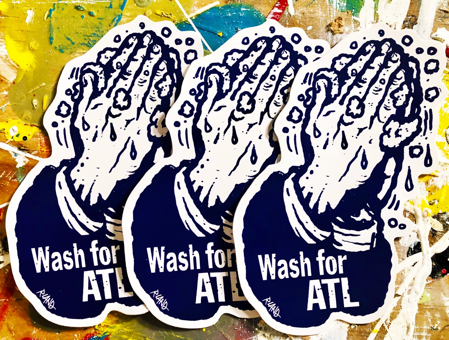 Image of Wash for ATL stickers (pack of 3)