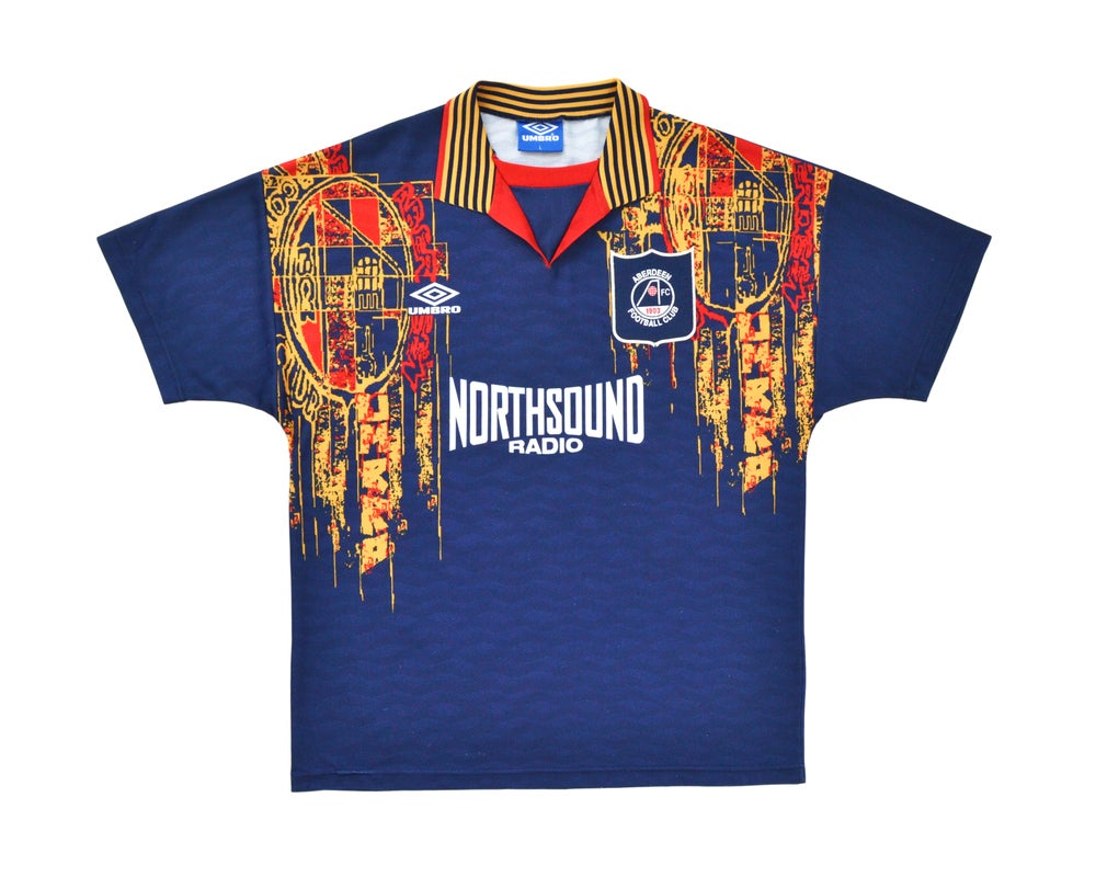 Image of 1994-96 Umbro Aberdeen Away Shirt L