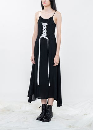 Image of Crossover Lace Up Dress